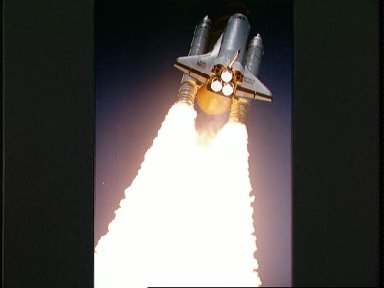 STS-43 Atlantis, OV-104, soars into space after liftoff from KSC LC Pad 39A