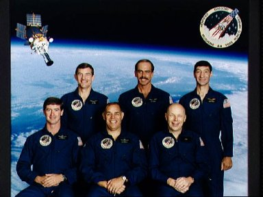 Official portrait of the STS-44 Atlantis, OV-104, crewmembers
