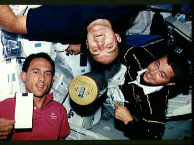 Astronauts Newman, Walz and Bursch change out lithium hydroxide canister