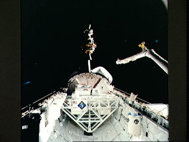 STS-52 deployment of LAGEOS / IRIS spacecraft from OV-102's payload bay (PLB)