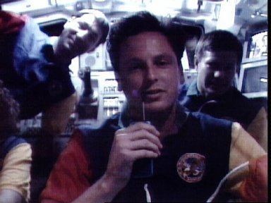 STS-54 MS2 Harbaugh talks to radio station from OV-105's aft flight deck