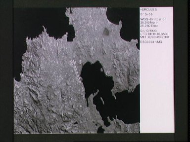 STS-56 ESC Earth observation of Limnos Island in the Aegean Sea