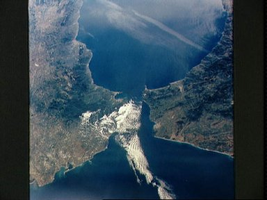 STS-56 Earth observation of the Strait of Gibraltar
