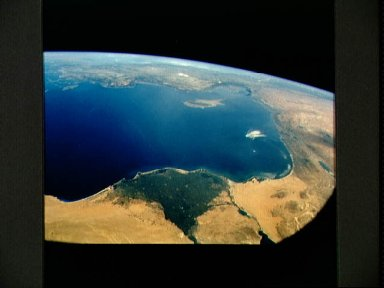 STS-57 Earth observation of the Eastern Mediterranean, Nile River, Asia Minor
