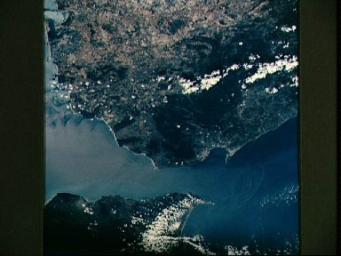 Strait of Gibraltar as seen from STS-58