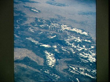 Yellowstone River and Wyoming as seen from STS-58