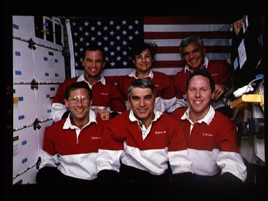 Onboard portrait of the STS-59 crew