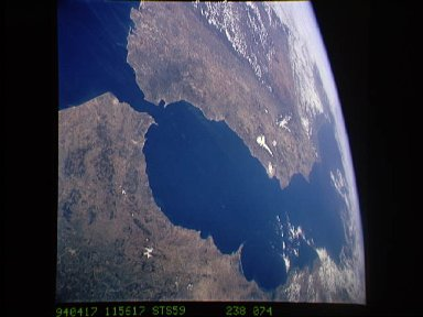 Morocco and border of spain as seen from STS-59