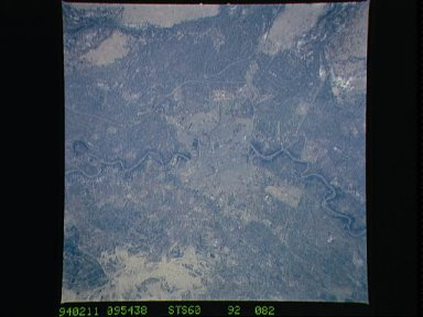 Baghdad, Iraq as seen from STS-60