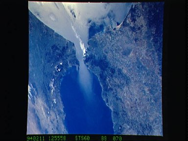Strait of Gibraltar as seen from STS-60