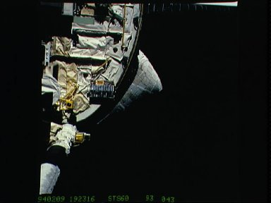 BREMSAT satellite launched from STS-60 Discovery cargo bay