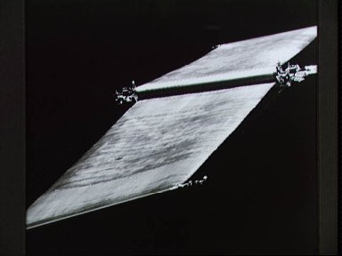 HST Solar Arrays photographed by Electronic Still Camera