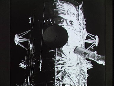 Hubble Space Telescope photographed by Electronic Still Camera