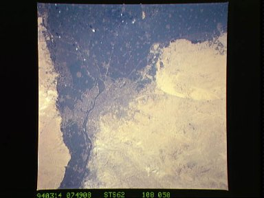Cairo, Egypt as seen from STS-62