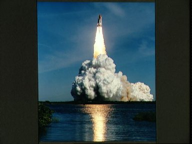 Liftoff of STS-62 Space Shuttle Columbia