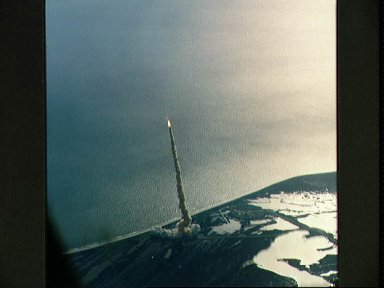 Liftoff of STS-62 Space Shuttle Columbia as seen from STA