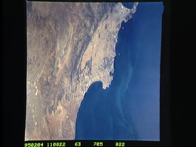 South Africa as seen from STS-63 Discovery