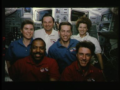 STS-63 onboard flight portrait