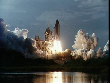 STS-64 launch view