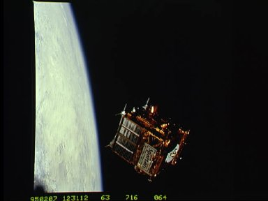 SPARTAN 204 freeflying during STS-63 mission