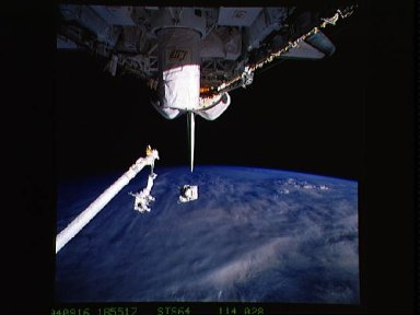 Astronauts Carl Meade and Mark Lee test SAFER during EVA