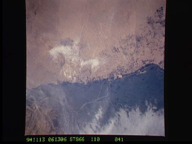 Cairo, Egypt/Nile River viewed from STS-66 Atlantis
