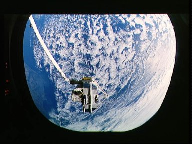 CRISTA-SPAS payload in the payload bay of STS-66 shuttle Atlantis