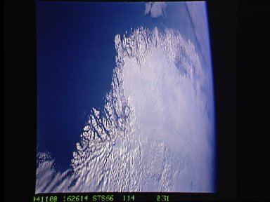 Greenland as seen by the STS-66 shuttle Atlantis