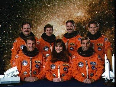 Official STS-67 preflight crew portrait