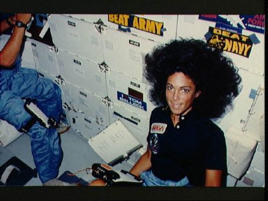 View of Mission Specialist Judith Resnik on the middeck