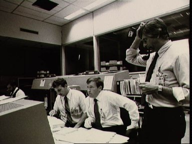 View of the Mission Control Center Activity during STS 51-A