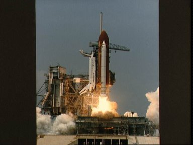 Liftoff of shuttle Challenger and mission STS 51-B