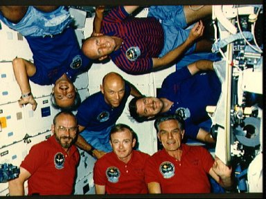 STS 51-F crew portrait during mission