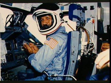 Astronaut Charles Bolden in pilots station prior to entry