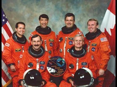 These six astronauts have been named to fly aboard the Space Shuttle Endeavour in support of the Spacehab-04 mission, scheduled for launch in May of this year.