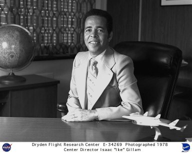 Isaac T. Gillam, IV, was Director of the NASA Dryden Flight Research Center, June 18, 1978 to October 1, 1981. Mr. Gillam had served as the Acting Director of Dryden since November 1977 and was named Deputy Director in August 1977. On May 23, 1976 he had been named Director of Shuttle Operations for the Approach and Landing Tests (ALT) of the Space Shuttle then underway at Dryden. Prior to coming to Dryden in 1976, Gillam was Program Manager of Small Launch Vehicles at NASA Headquarters. He first joined NASA in 1963 after a 10-year tour of duty in the U.S. Air Force as a pilot during the Korean conflict and then as missile launch crew commander for the Strategic Air Command. Gillam earned a bachelor degree in mathematics from Howard University, Washington, DC, in the early 1950s. He also pursued graduate work at Tennessee State University, Nashville, Tennessee, while assigned as Assistant Professor of Air Science. In 1981 Gillam was honored by Howard for distinguished post-graduate achievement in science and engineering. Gillam is a Fellow of the American Astronautical Society, and Associate Fellow of the American Institute of Aeronautics and Astronautics, a member of the Air Force Association, the National Defense Preparedness Association and the American Management Association. Among numerous other awards, he has received NASA?s highest award, the Distinguished Service Medal, for his work on the Launch Vehicle Program, and the Exceptional Service Medal, for his outstanding leadership in support of the Space Shuttle program.