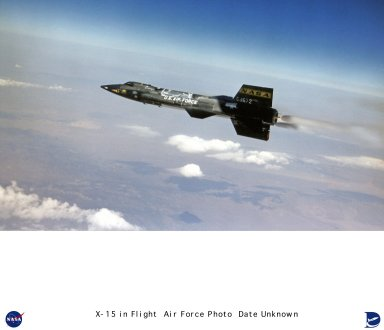 """This U.S. Air Force photo shows the X-15 ship #3 (56-6672) in flight over the desert in the 1960s. Ship #3 made 65 flights during the program, attaining a top speed of Mach 5.65 and a maximum altitude of 354,200 feet. Only 10 of the 12 X-15 pilots flew Ship #3, and only eight of them earned their astronaut wings during the program. Robert White, Joseph Walker, Robert Rushworth, John """"Jack"""" McKay, Joseph Engle, William """"Pete"""" Knight, William Dana, and Michael Adams all earned their astronaut wings in Ship #3. Neil Armstrong and Milton Thompson also flew Ship #3. In fact, Armstrong piloted Ship #3 on its first flight, on 20 December 1961. On 15 Novemeber 1967, Ship #3 was launched over Delamar Lake, Nevada with Maj. Michael J. Adams at the controls. The vehicle soon reached a speed of Mach 5.2, and a peak altitude of 266,000 feet. During the climb, an electrical disturbance degraded the aircraft's controllability. Ship #3 began a slow drift in heading, which soon became a spin. Adams radioed that the X-15 """"seems squirrelly"""" and then said """"I'm in a spin."""" Through some combination of pilot technique and basic aerodynamic stability, Adams recovered from the spin and entered an inverted Mach 4.7 dive. As the X-15 plummeted into the increasingly thicker atmosphere, the Honeywell adaptive flight control system caused the vehicle to begin oscillating. As the pitching motion increased, aerodynamic forces finally broke the aircraft into several major pieces. Adams was killed when the forward fuselage impacted the desert. This was the only fatal accident during the entire X-15 program. The X-15 was a rocket-powered aircraft 50 ft long with a wingspan of 22 ft. It was a missile-shaped vehicle with an unusual wedge-shaped vertical tail, thin stubby wings, and unique side fairings that extended along the side of the fuselage. The X-15 weighed about 14,000 lb empty and approximately 34,000 lb at launch. The XLR-99 rocket engine, manufactured by Thiokol Chemical Corp., was pilot con"""