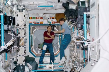 STS-102 Onboard Photograph-The Payload Equipment Restraint System