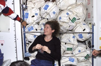 Astronaut Susan Helms in the ISS Unity Node