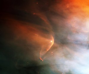 Bow Shock in the Great Nebula