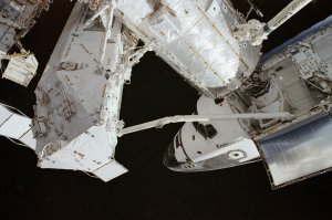 STS-111 Onboard Photo of Endeavour Docking With PMA-2