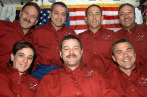STS-109 Shuttle Mission Onboard Crew Portrait