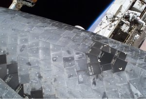Close-up of Shuttle Thermal Tiles in Space