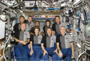 STS-114 and Expedition 11 Onboard Group Photo