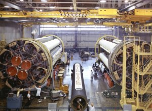 Saturn I S-I Stage at Michoud Assembly Facility