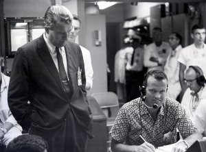 Dr. von Braun and Astronaut Cooper During MR-3 Recovery