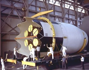 Saturn I S-IV Stage Assembly for SA-9