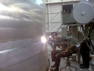 Welding Operation of the LOX Tank