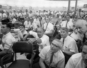 NASA Officials During the SA-8 Launch in the Launch Control Center