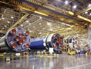Saturn IB S-IB Stages at Michoud Assembly Facility (MAF)